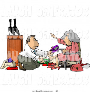Larger Preview: Humorous Clip Art of a Helpful Caucasian Shoe Salesman ...