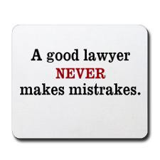 Funny Law Quote Lawyer Mousepad for