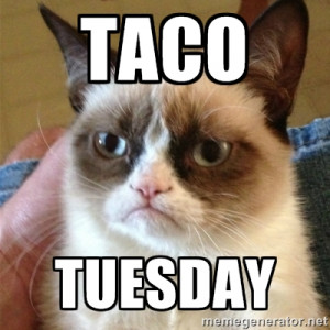 Grumpy Cat - Taco Tuesday