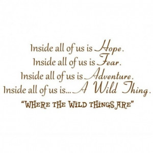... Us is Hope, Inside all of Us is Fear... -