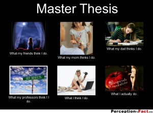 Doing master thesis