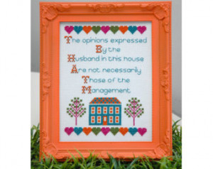 Funny Husband Quote Cross Stitch Pa ttern Instant Download ...