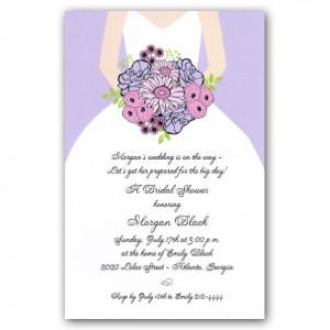 Lilac Bouquet Bride Bridal Shower Invitations - 39-1-2498