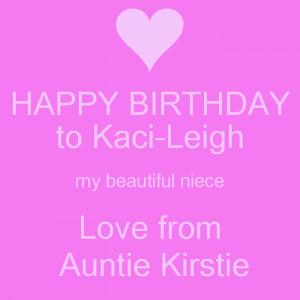Happy Birthday Love Auntie