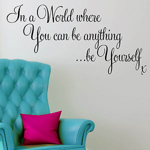 Wall-Sticker-Quote-Motivational-Inspirational-Office-Be-Yourself-Decal ...
