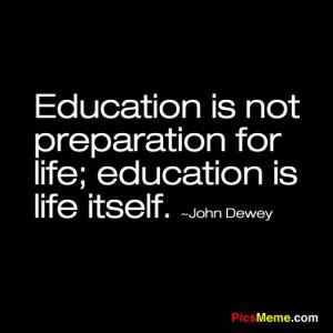 John Dewey quote.