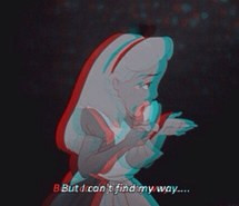 alice in wonderland, disney, lost, movie, princess, quote, sad, words