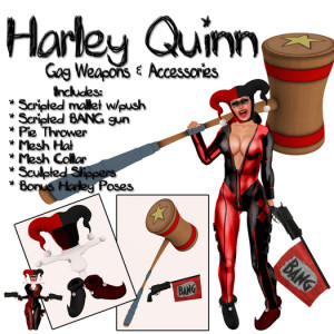 CatniP-:. Harley Quinn gag weapons & accessories , costume