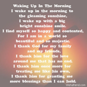 ... poems every morning i wake up cute poems for him to wake up to