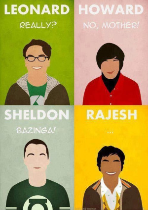 The Big Bang Theory - poster of quotes