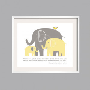 ... Inspirational, You are braver than you believe, Nursery Decor, Baby