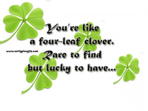 Awesome Clover Quote -