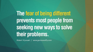 Quotes About Being Different By Famous People The fear of being ...