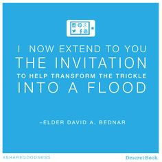 ... Bednar #Sharegoodness, Lds Quotes Education, David A Bednar Social