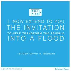 ... Bednar #Sharegoodness, Lds Quotes Education, David A Bednar Social