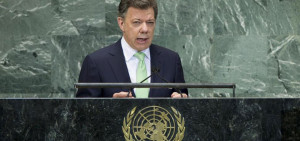 Colombian President Juan Manuel Santos was one of many leaders to ...