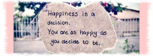 Happiness Quote Facebook Cover - Facebook timeline covers maker