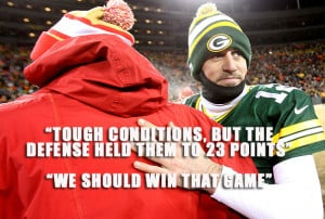 Aaron Rodgers chose to shoulder a lot more playoff blame than Andy
