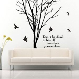 Home » Tree Branch and Quotes Home Mural Wall Art Sticker