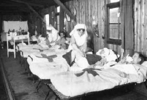 AWM E04623. France, 30 November 1917. A ward in 2nd Casualty Clearing ...