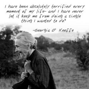 Atrist, Georgia O'Keeffe Quote: