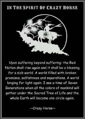 Crazy Horse quote. Native Americans. Indians. American ~ I pray that ...