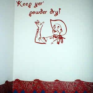Keep yer' powder dry!