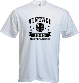 ... 1949 - T Shirt, 65th BIRTHDAY, Fun, Present, Gift, Quality, NEW