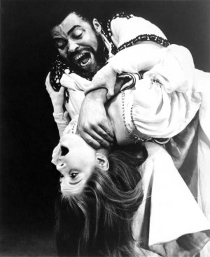 Caption: James Earl Jones as Othello and Julienne Marie as Desdemona ...