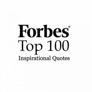 Forbes Top 100 Inspirational Quotes
