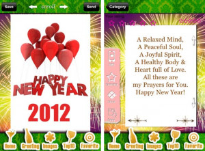 New Year 2012 Best app for iPhone – Best Wishes & Cards