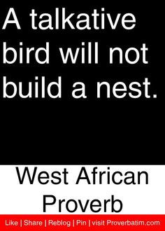 ... build a nest west african proverb # proverbs # quotes african quotes