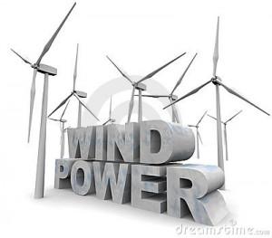 Stock Photography: Wind Power Words - Alternative Energy