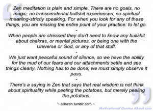 zen meditation is plain and simple alliszen