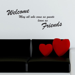 Welcome Friends Wall Sticker - Wall Quotes