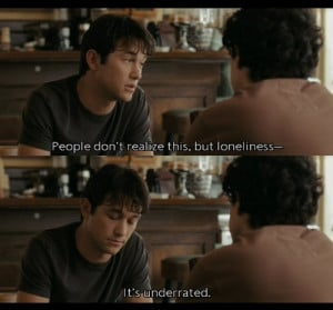 500 days of summer, joseph gordon levitt, loneliness, movie, quote