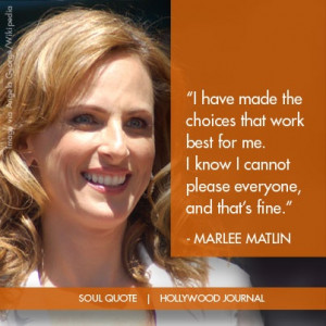 Marlee Matlin Soul Quote