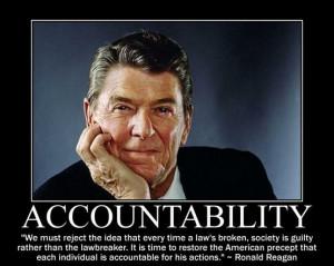 Reagan, personal responsibility, conservative, liberals, democrats ...