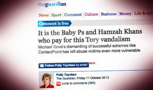 Toynbee/Guardian row back on blaming Tories for Baby P death