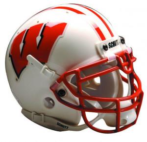 Wisconsin Badgers Schutt Full Size Authentic Helmet