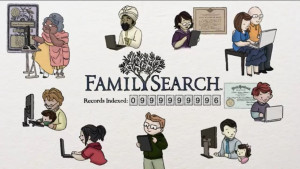 Excellent use of cartooning: Family Search Genealogy