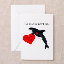 Killer Whale Valentines Greeting Cards