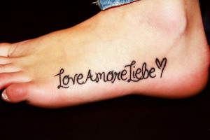 Foot Tattoos Quotes