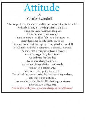 "The poem ""Attitude"" by Charles Swindoll."
