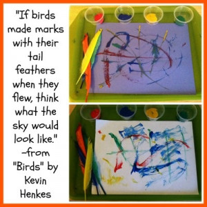 Bird activities for Kids: Paint with Feathers - quote from