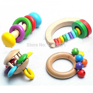 Funny Rattle Handbell Hand Bell Musical Percussion Instrument For Baby ...