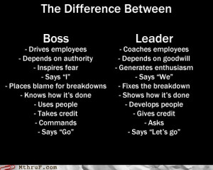 Boss vs Leader Quote