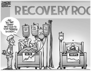 Editorial Cartoon: Recovery Room