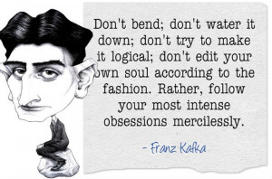 Franz Kafka quote, via Xlibris