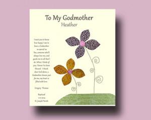 ... Godmother - Gift from Godchild - Godmother Keepsake, Godmother